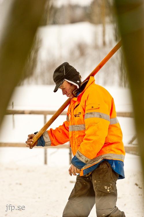 Kjell har tränat travhästar hela sitt liv. Foto: Jonas Forsberg